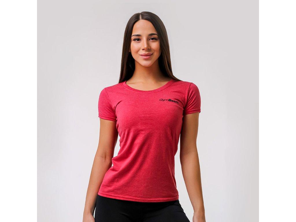 Dámské tričko Basic Vintage Red - GymBeam