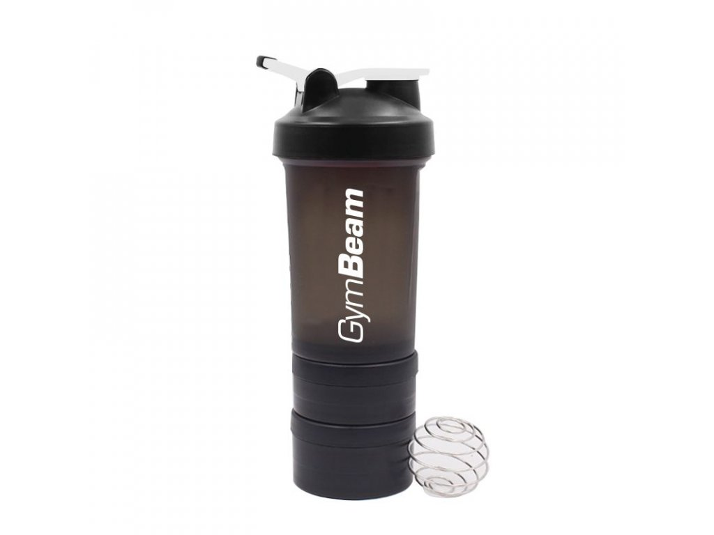Vícedílný šejkr Blend Bottle Black White 600 ml - GymBeam