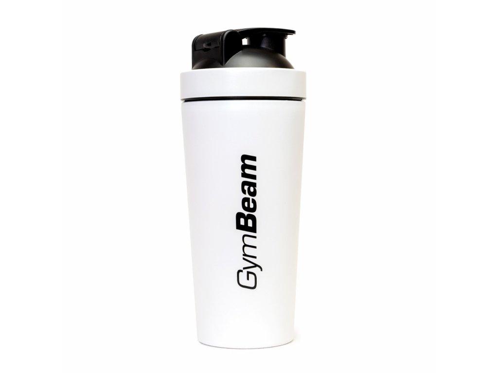 Šejkr Steel White 750 ml - Gymbeam