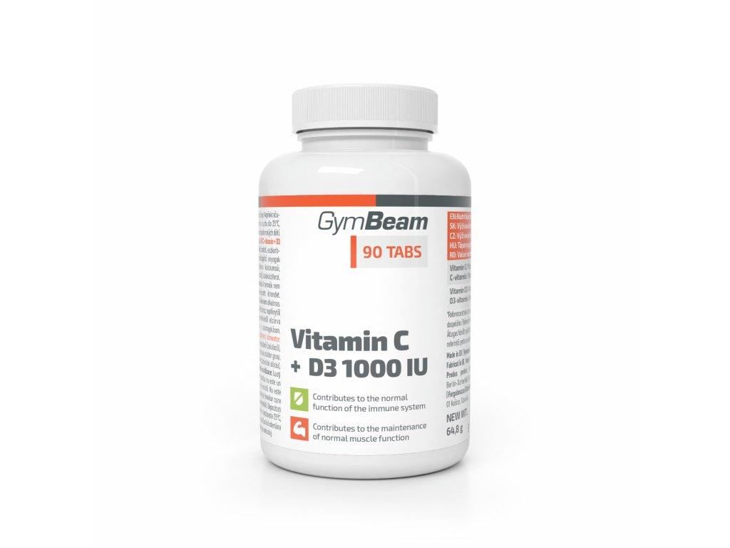 Vitamín C + D3 1000 IU - GymBeam