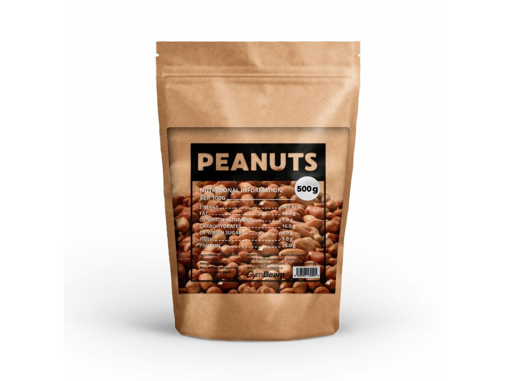Arašídy nepražené - GymBeam