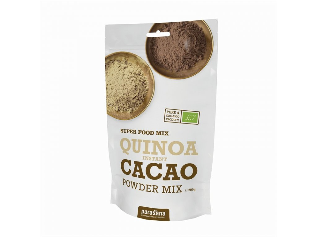 Purasana Quinoa Cacao Lucuma prášek Bio 200g