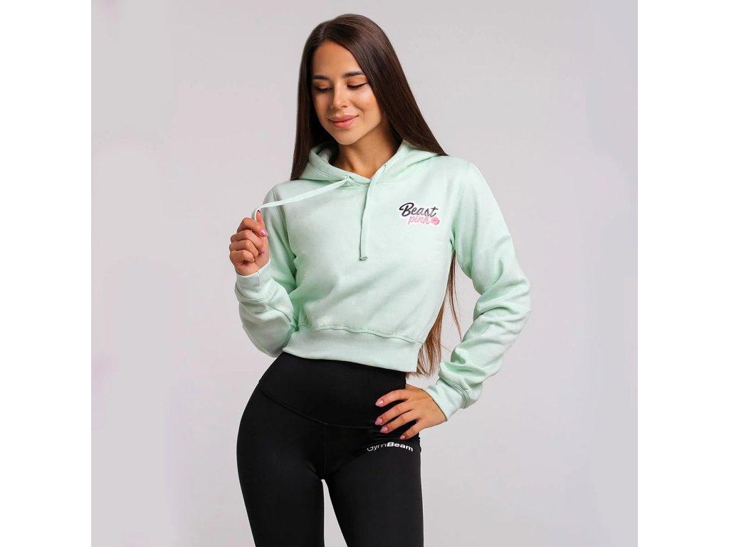beastpink cropped hoodie mint 1