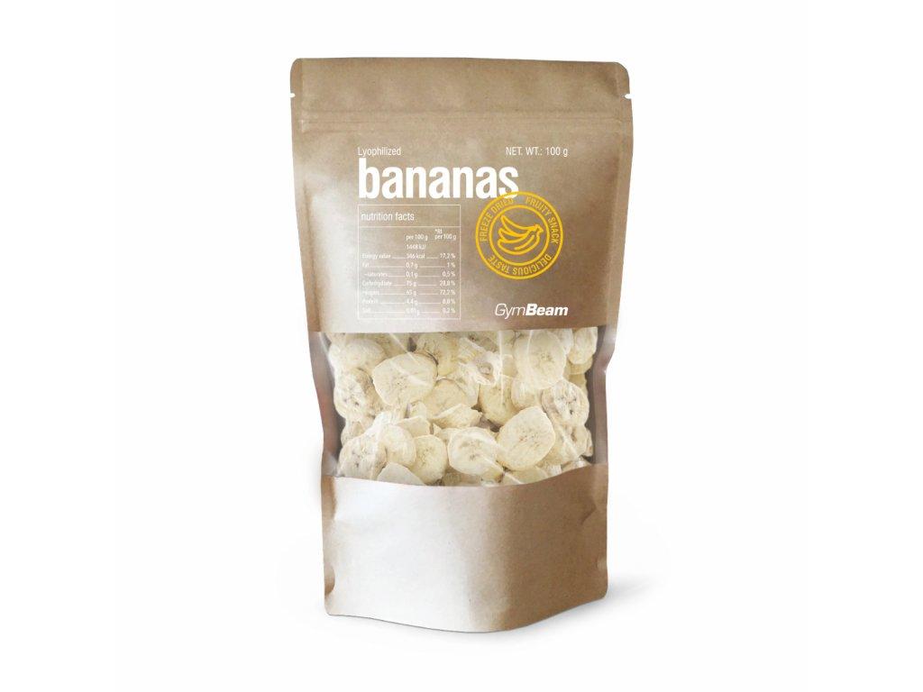 GymBeam Lyofilizované banány 100 g