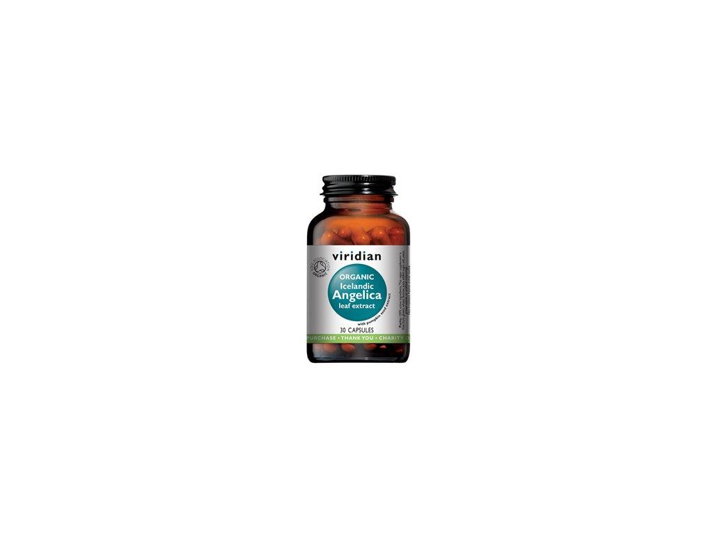Viridian Organic Andělika lékařská Bio 30 kapslí
