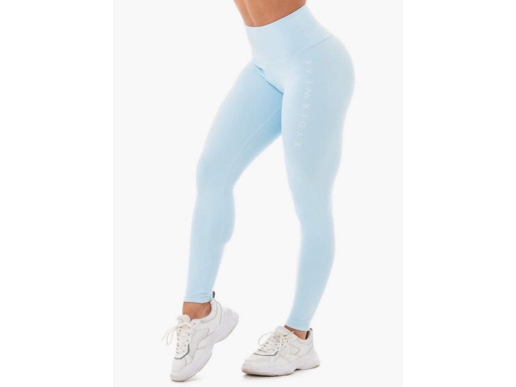 Dámské legíny Staples Scrunch Bum sky blue - Ryderwear