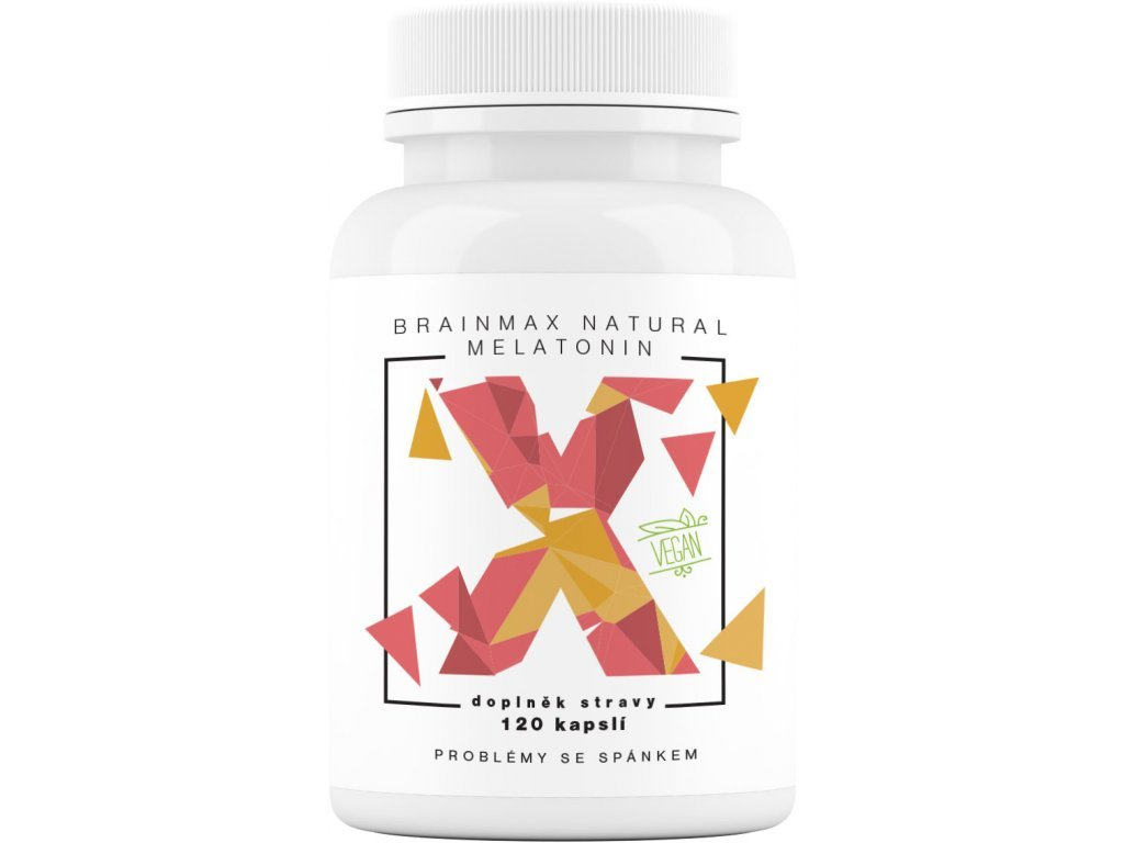 BrainMax Natural Melatonin 120 kapslí