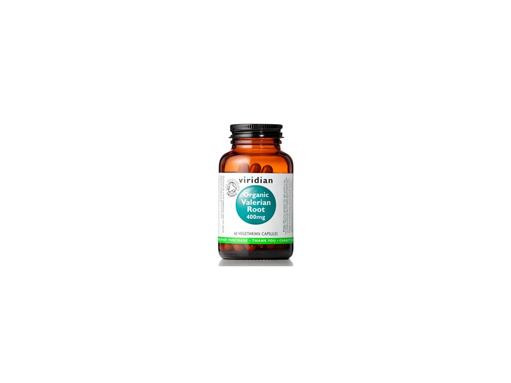 Viridian Organic Valerian Root 400 mg 60 kapslí