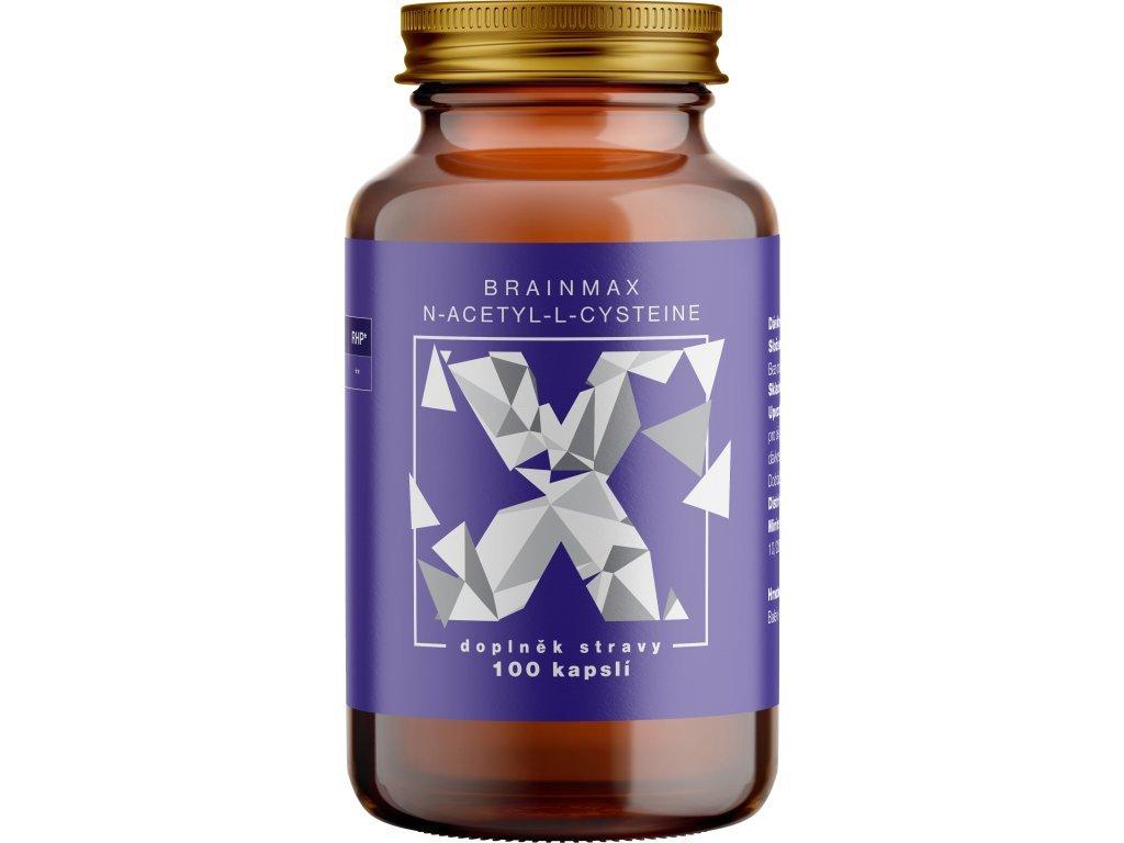 BrainMax N-Acetyl-L-Cysteine, NAC, 950 mg, 100 rostlinných kapslí