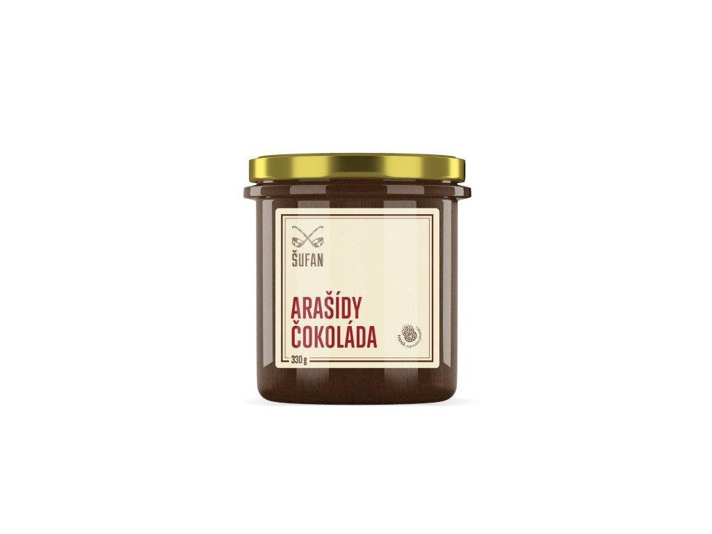 Šufan Arašídy Čokoláda pražené mělněné Arašídovo-čokoládový krém 330 g
