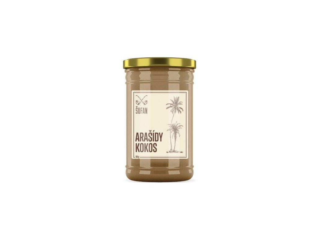 Šufan Arašídy Kokos 60 / 40 mělněné Arašídovo-kokosový krém 950 g