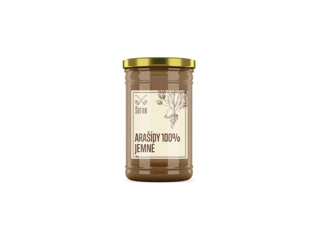 Šufan Arašídy pražené mělněné jemné Arašídový krém jemný 1000 g
