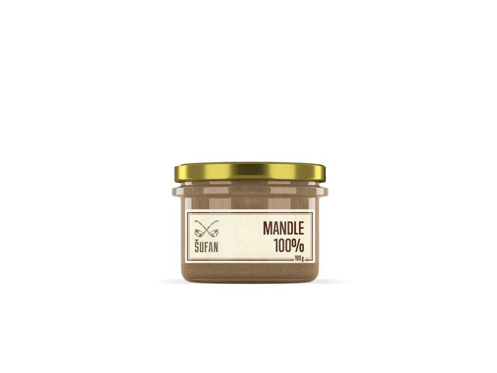 Šufan Mandle pražené mělněné Mandlový krém 190 g