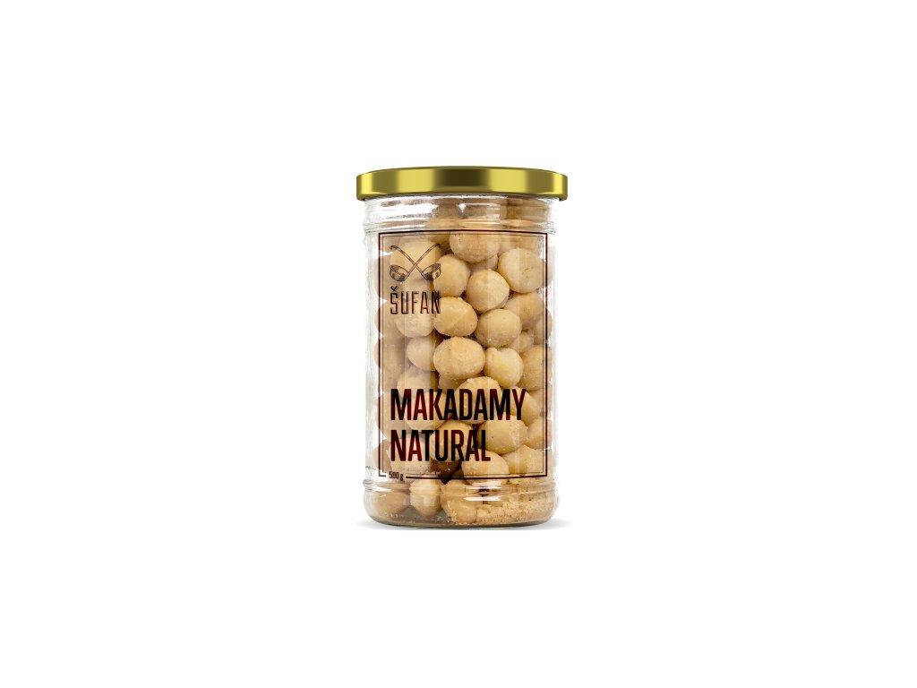 Šufan Makadamové ořechy natural ve skle 500g