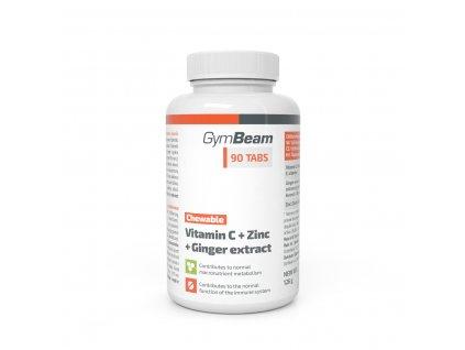 Vitamín C + Zinek + extrakt ze zázvoru, tablety na cucání