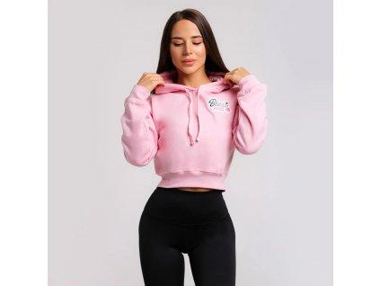 beastpink cropped hoodie baby pink 1