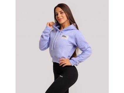 beastpink cropped hoodie baby blue 1