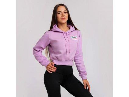 beastpink cropped hoodie baby lila 1