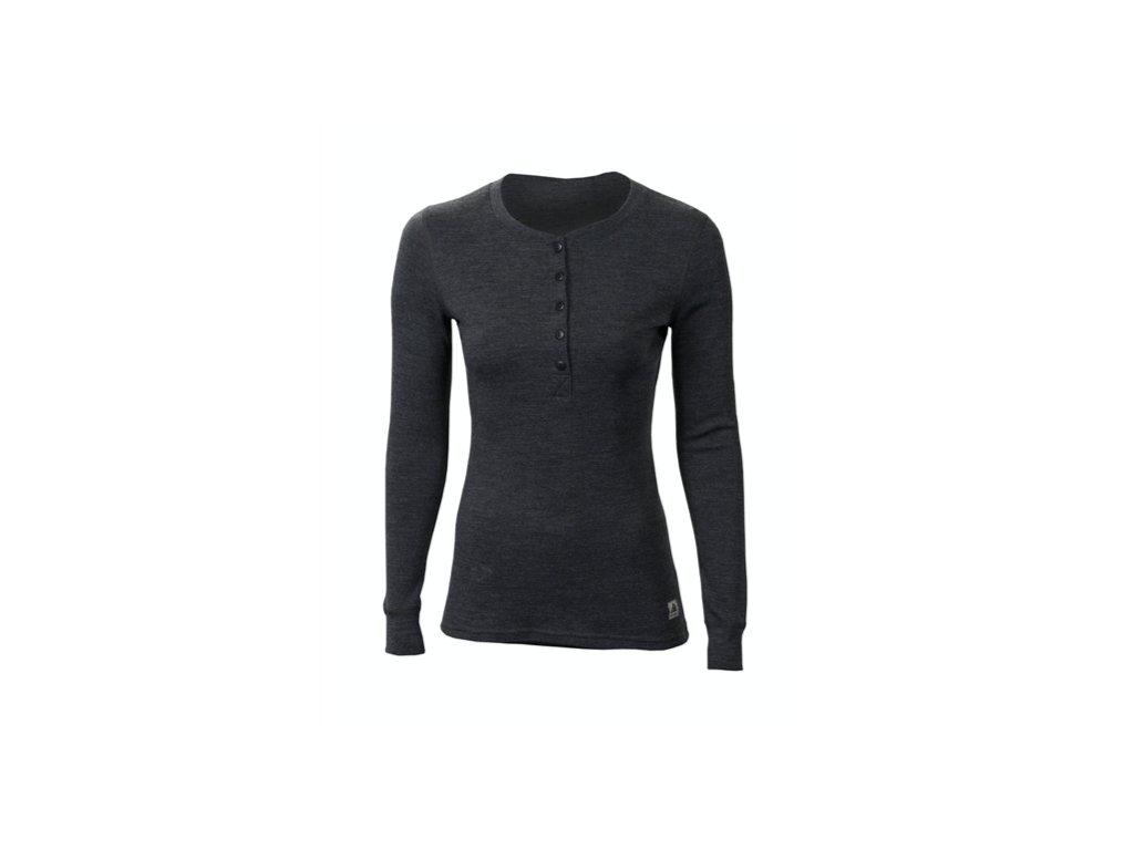 WarmWool Grandad shirt černá