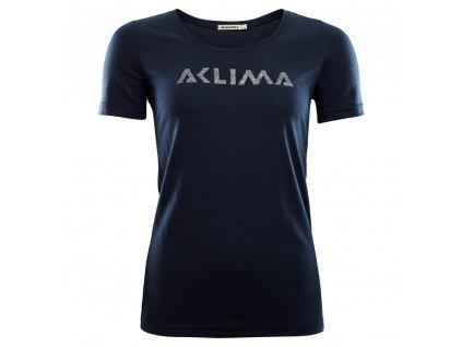 Dámské triko Aclima LightWool T-shirt LOGO 102515