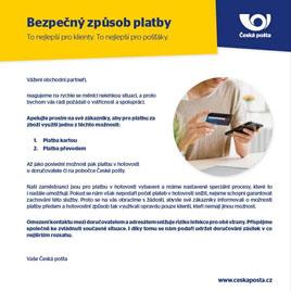 Česká pošta-platba předem