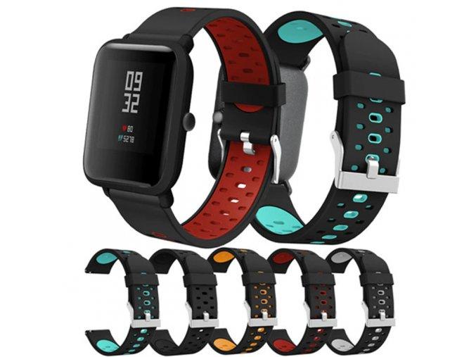 silikonový pásek na hodinky 20 mm 1