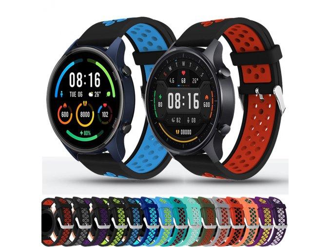 barevný silikonový pásek na hodinky 22mm 1