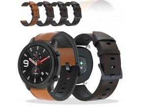 luxusní kožený pásek na hodinky 20mm 1