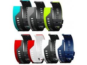 Luxusní pásek na hodinky 20 mm dvoubarevný 1
