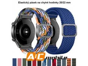 Elastický pásek na chytré hodinky barevný 1