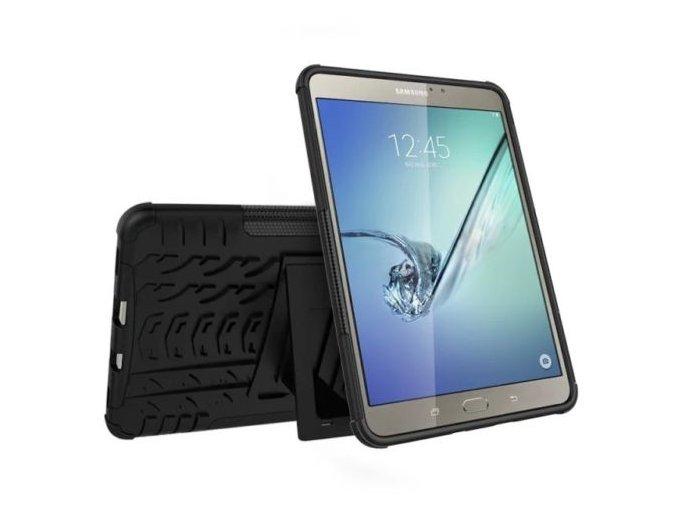 """Silikonový kryt SAMSUNG Galaxy Tab S2 8"""" - se stojánkem (Barva Černá)"""