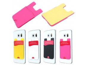 Silikonové poudro k mobilu pro kreditní kartu (Barva Bílá)