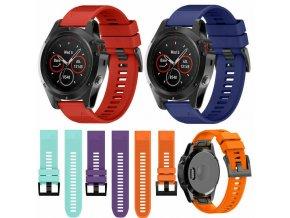 Pásek na hodinky Garmin Fenix 5S/5S plus - řemínek 20 mm (Barva Azurová)