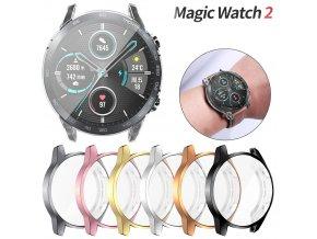 Lesklé pouzdro na Honor Magic Watch 2 46 mm (Barva Bronzová)