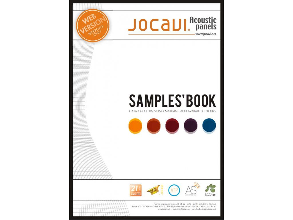 Vzorková kniha barev a materiálů Jocavi Sample Book