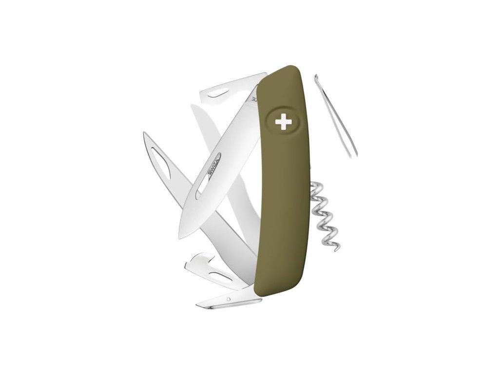 Swiza švýcarský kapesní nůž D07 olive