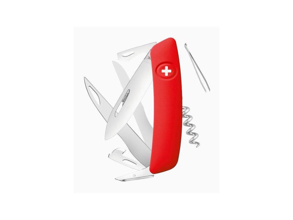 Swiza švýcarský kapesní nůž D07 red