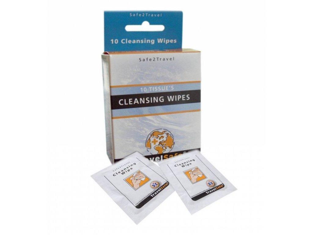 TravelSafe antibakteriální ubrousky Cleansing Wipes