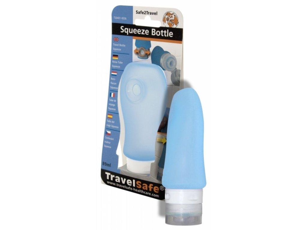 TravelSafe mačkací dávkovací lahev Squeeze Bottle modrá