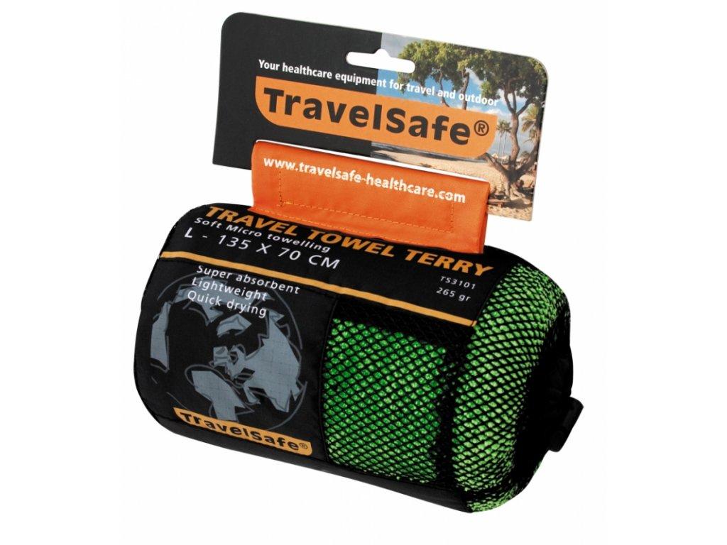 TravelSafe ručník Microfiber Terry Towel L jasper green