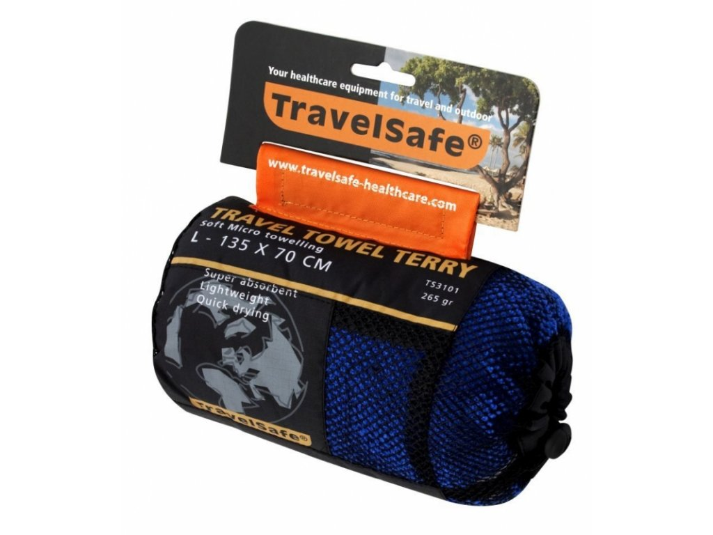 TravelSafe ručník Microfiber Terry Towel L royal blue