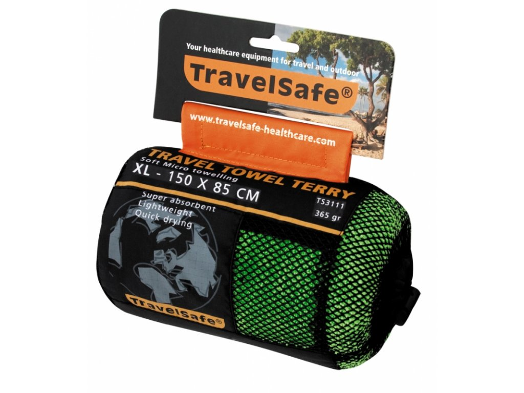 TravelSafe ručník Microfiber Terry Towel XL jasper green