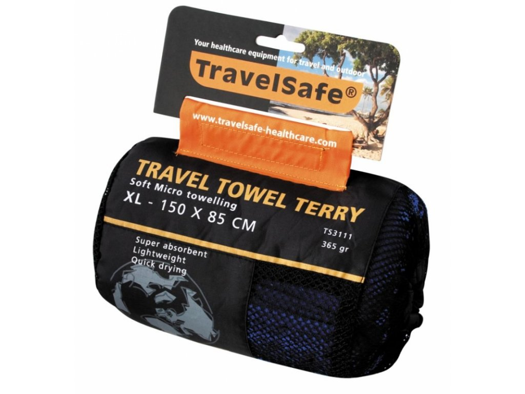 TravelSafe ručník Microfiber Terry Towel XL royal blue