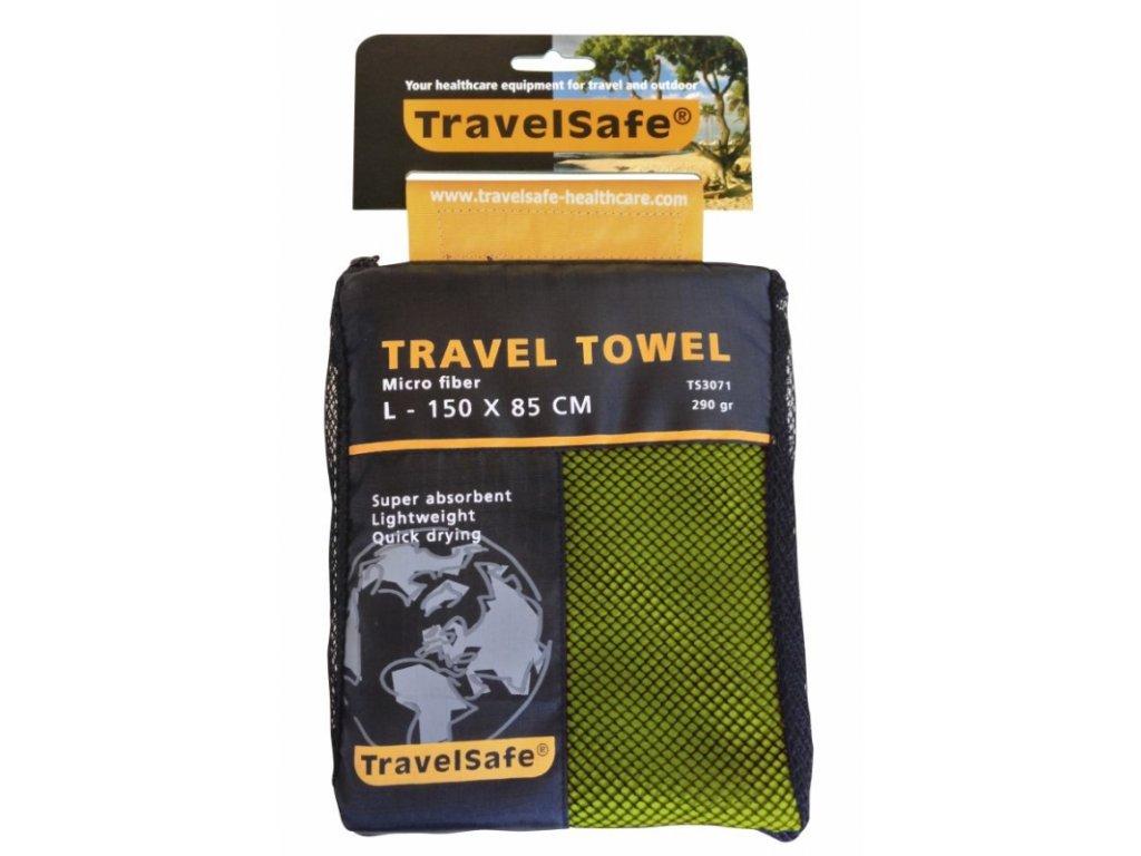TravelSafe ručník Microfiber Towel L lime green