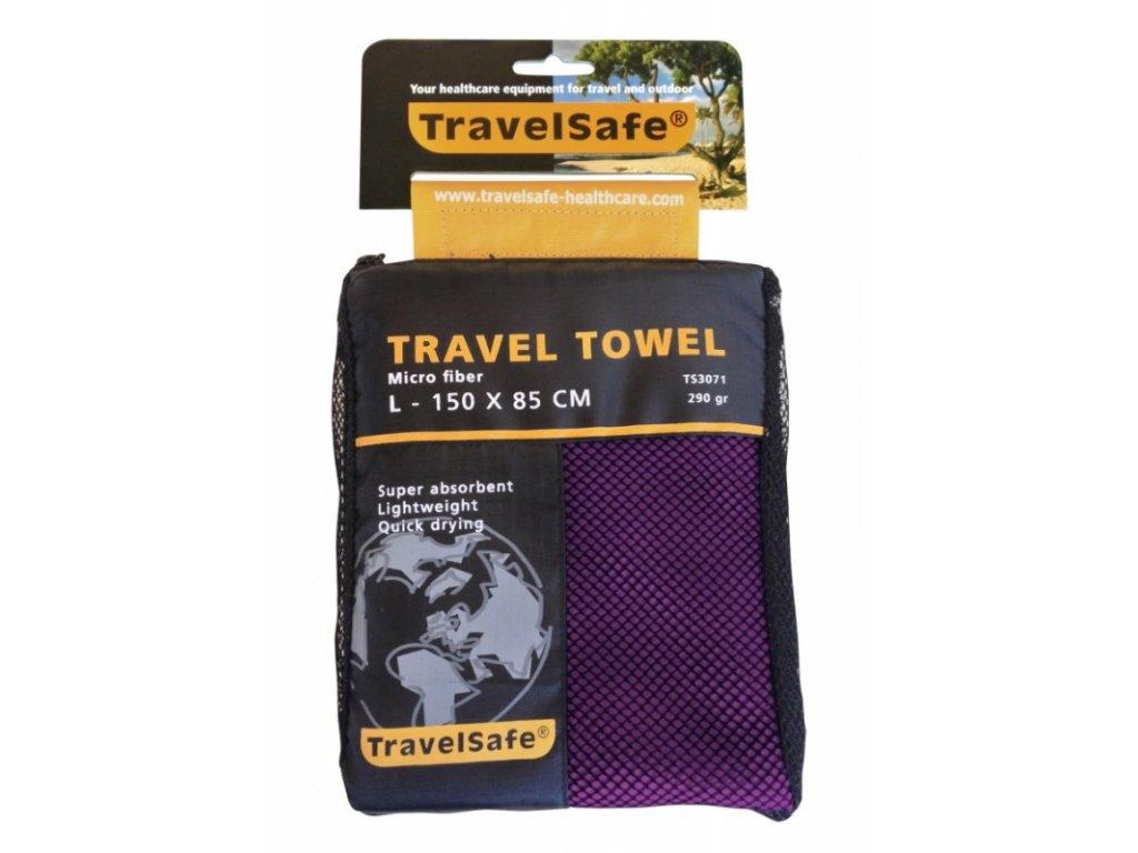 TravelSafe ručník Microfiber Towel L purple