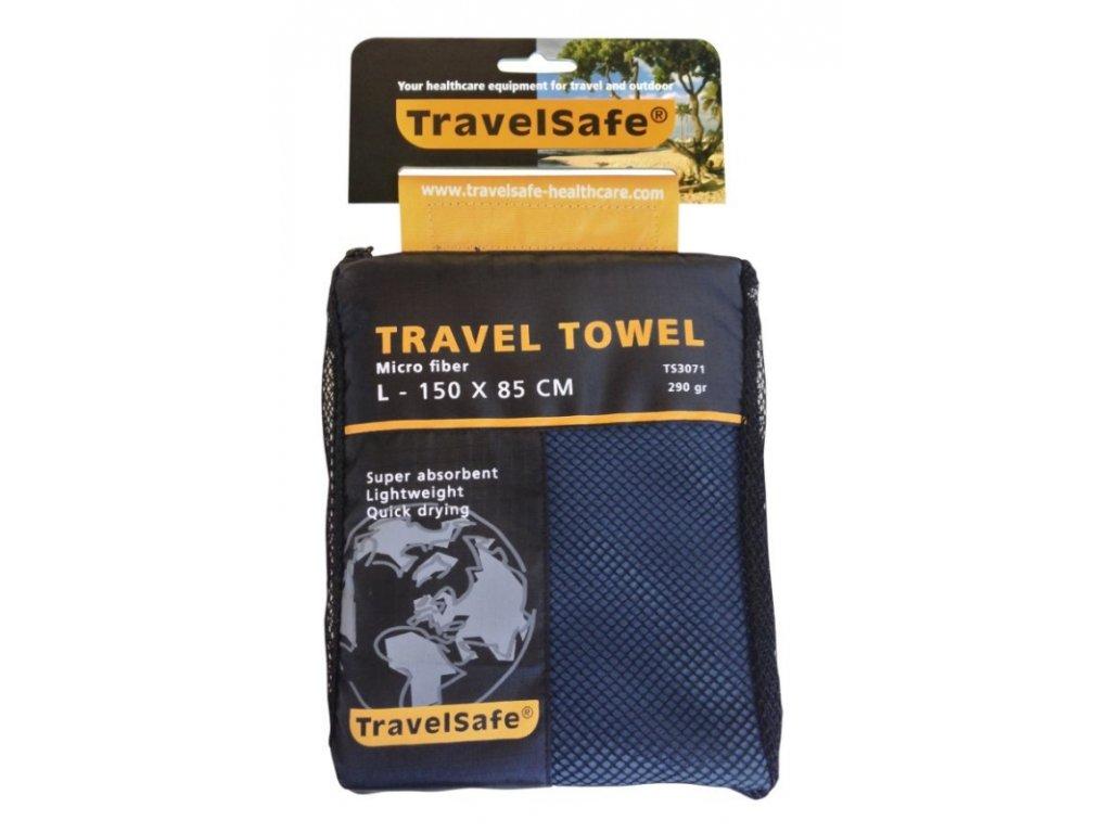 TravelSafe ručník Microfiber Towel L royal blue