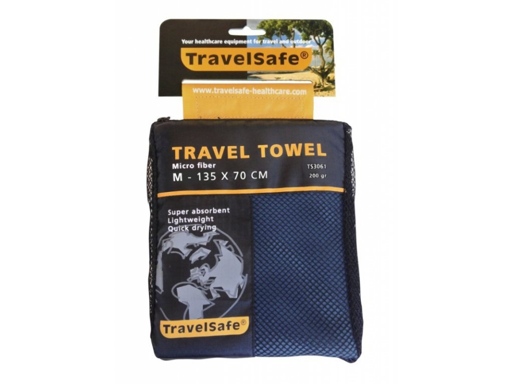 TravelSafe ručník Microfiber Towel M royal blue