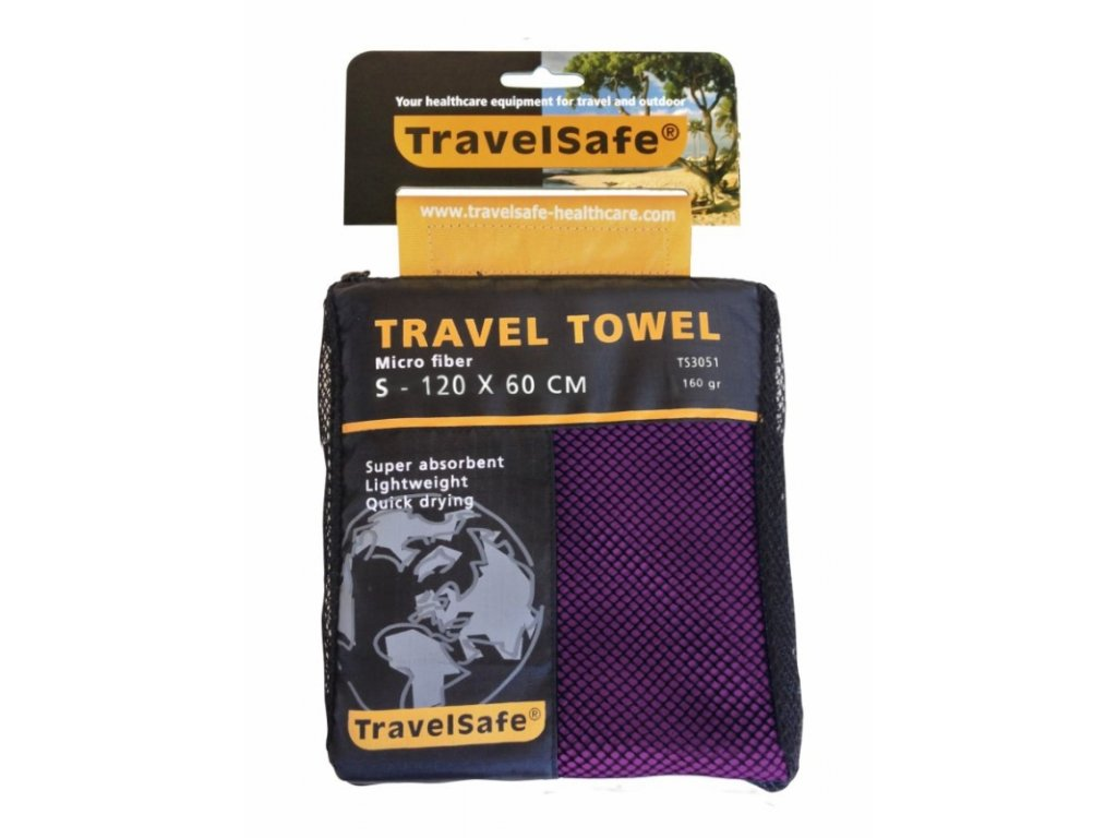 TravelSafe ručník Microfiber Towel S purple