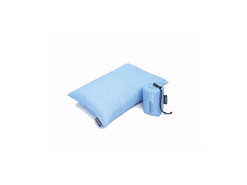 Cocoon péřový polštář Down Travel Pillow S light blue