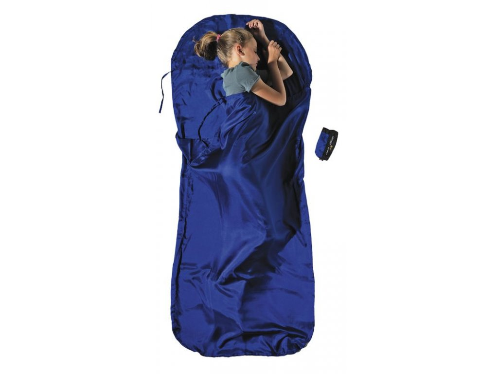 Cocoon dětská spacáková přikrývka hedvábí ultramarine blue